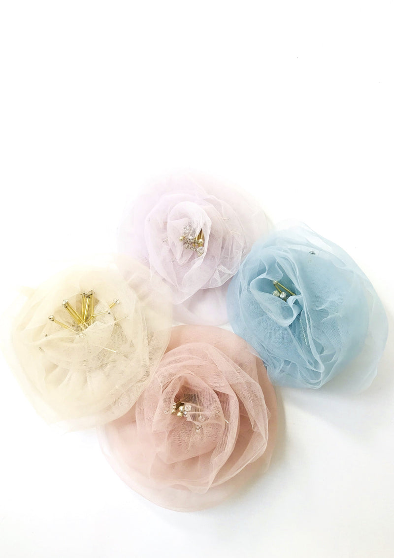 DOLLY by Le Petit Tom ® True Ballerina hair rosette hair clip & broach - DOLLY by Le Petit Tom ®