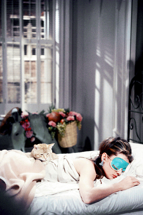 [ MADE TO ORDER!] DOLLY GOLIGHTLY PRINTED SLEEPING MASK Tiffany Blue