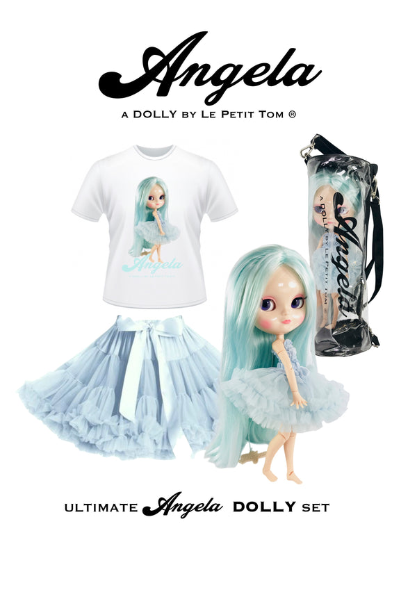 [ OUTLET] ANGELA DOLLY by Le Petit Tom ® T-shirt Angela doll light blue