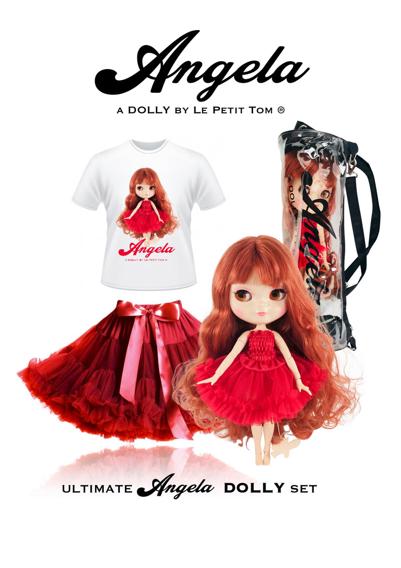 [ OUTLET] ANGELA DOLLY by Le Petit Tom ® T-shirt Angela doll red