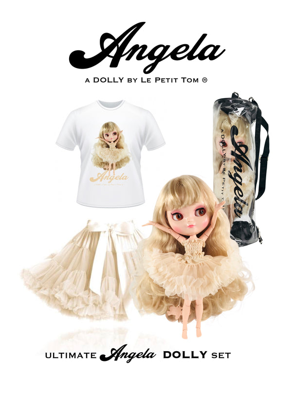[ OUTLET] ANGELA DOLLY by Le Petit Tom ® T-shirt Angela doll cream
