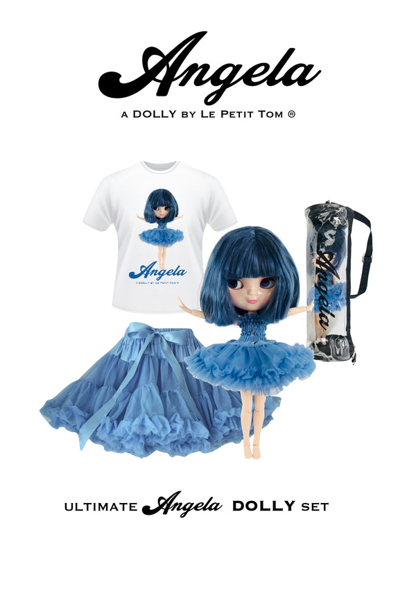 [ OUTLET] ANGELA DOLLY by Le Petit Tom ® T-shirt Angela doll marquis blue