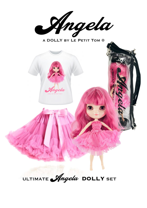 ANGELA DOLLY by Le Petit Tom ® T-shirt Angela doll pinkest pink