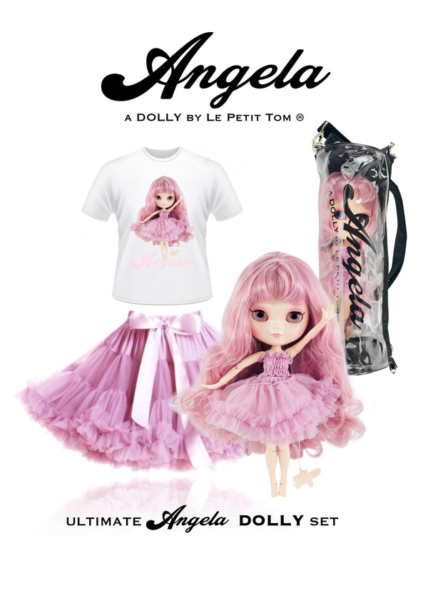 [ PRE ORDER *] ANGELA DOLLY by Le Petit Tom ® T-shirt Angela doll violet