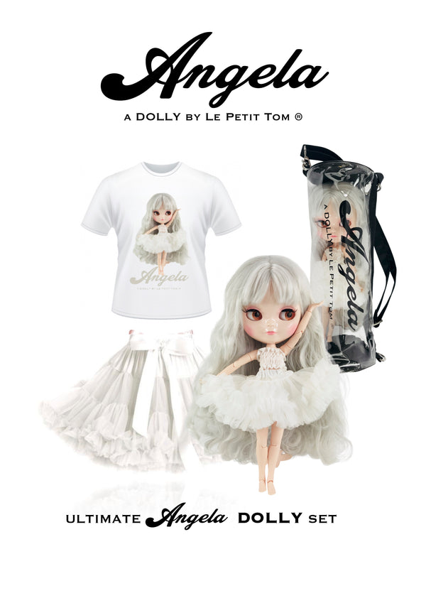 ANGELA DOLLY by Le Petit Tom ® T-shirt Angela doll white