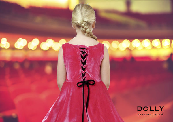DOLLY by Le Petit Tom ® VELVET THE MISS BALLET petticoat dress fuchsia - DOLLY by Le Petit Tom ®