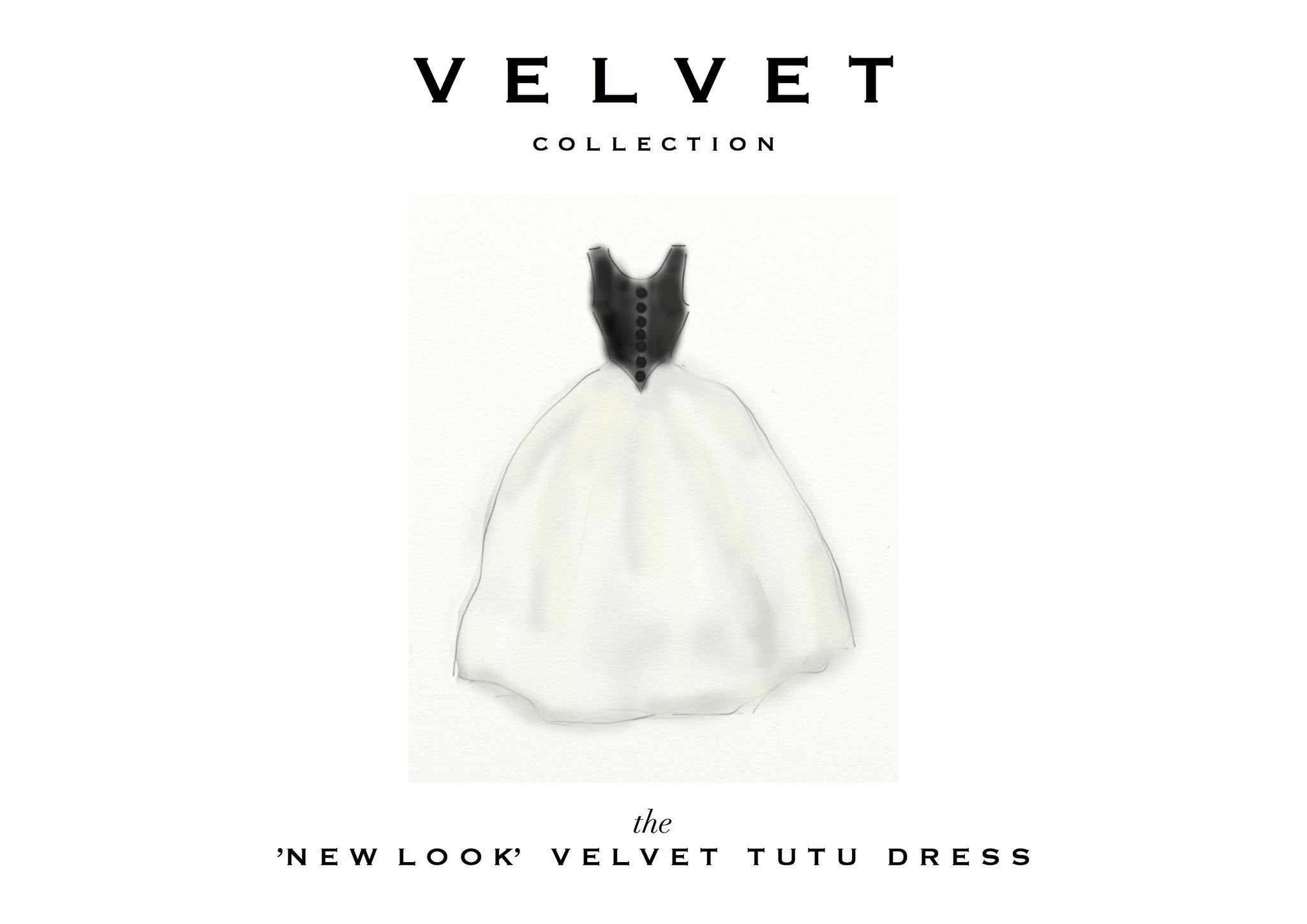 DOLLY by Le Petit Tom ® VELVET THE NEW LOOK tutu dress black - DOLLY by Le Petit Tom ®