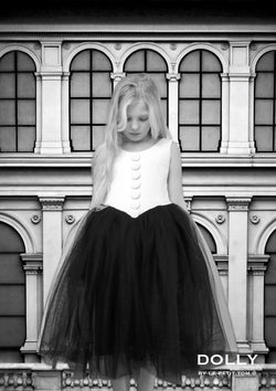 DOLLY by Le Petit Tom ® VELVET THE NEW LOOK tutu dress white - DOLLY by Le Petit Tom ®