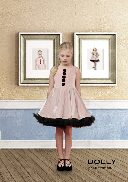 DOLLY by Le Petit Tom ® VELVET THE POSH BALLERINA petticoat dress ballet pink