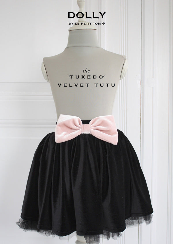 DOLLY by Le Petit Tom ® VELVET THE TUXEDO TUTU black - DOLLY by Le Petit Tom ®