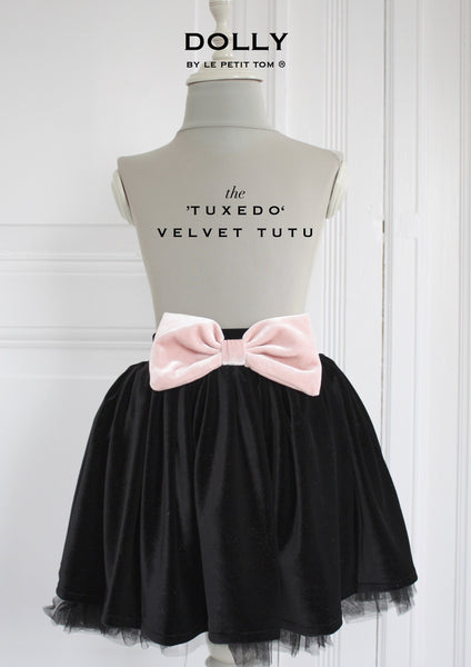 DOLLY by Le Petit Tom ® VELVET THE TUXEDO TUTU black