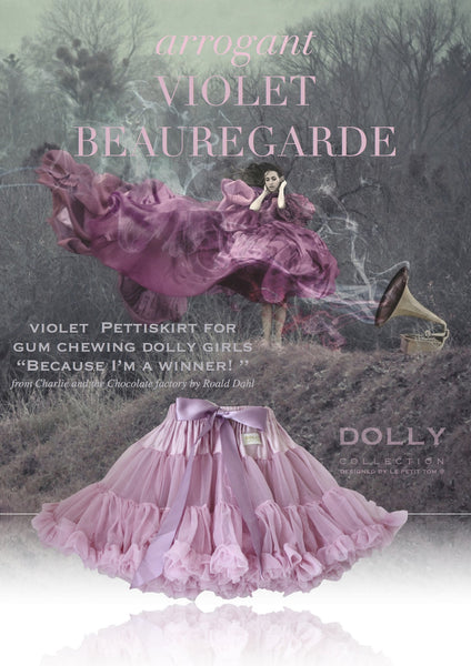 DOLLY by Le Petit Tom ® VIOLET BEAUREGARDE pettiskirt violet - DOLLY by Le Petit Tom ®