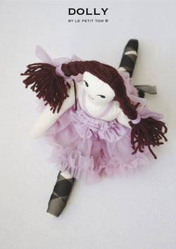 DOLLY by Le Petit Tom ® VIOLET DOLL (with braids) violet - DOLLY by Le Petit Tom ®
