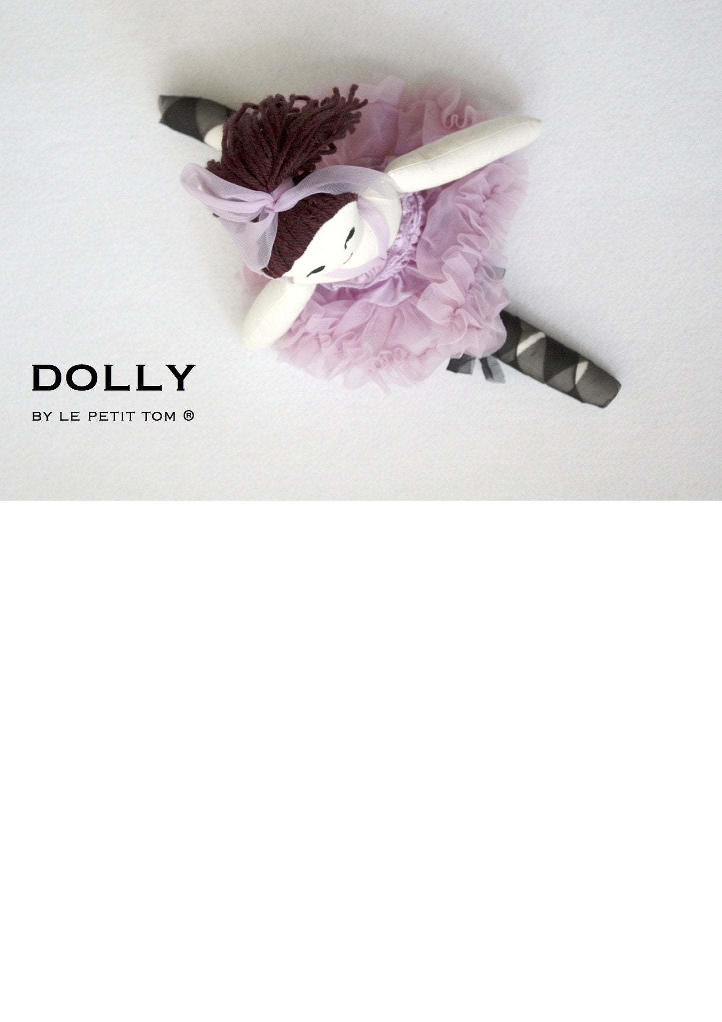 DOLLY by Le Petit Tom ® VIOLET DOLL (with ponytail) violet
