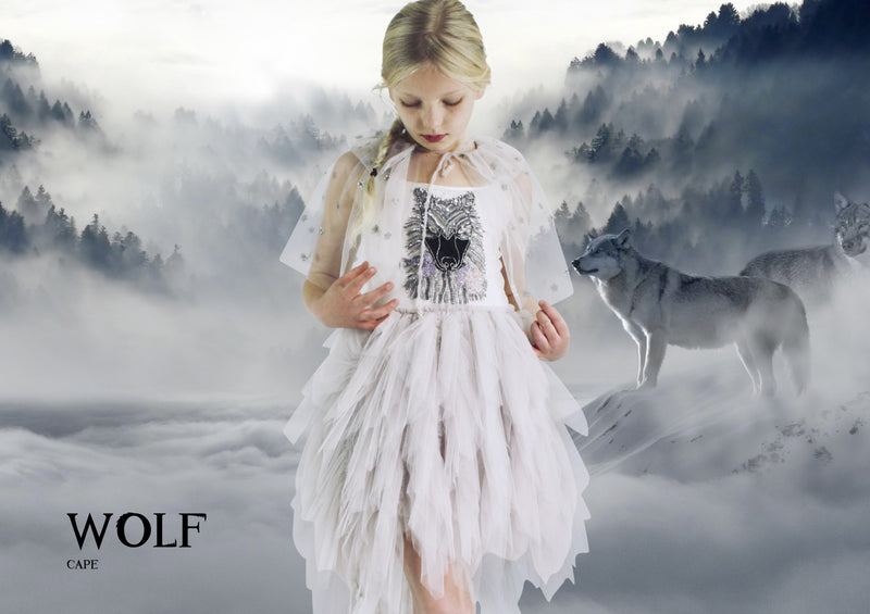 DOLLY by Le Petit Tom ® WOLF tutu dress silvergrey - DOLLY by Le Petit Tom ®