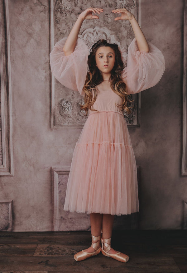 [ OUTLET] DOLLY GOLIGHTLY TEA TUTU DRESS ballet pink