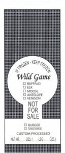 Wild Game Bags