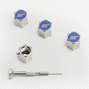 Locking Tyre Valve Dust Caps with ST logo
