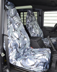 Grey Camouflage Slip-over Seat Covers