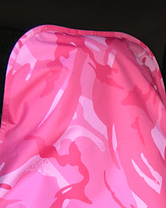 Pink Camo Seat Covers - Waterproof Slip Over Headrest