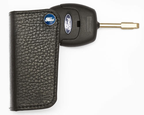 Ford Car Key Case - Black Leather