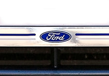 Load image into Gallery viewer, Ford logo on chromed front number plate surround