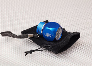 Blue Metal LED Ford Car Torch with pouch