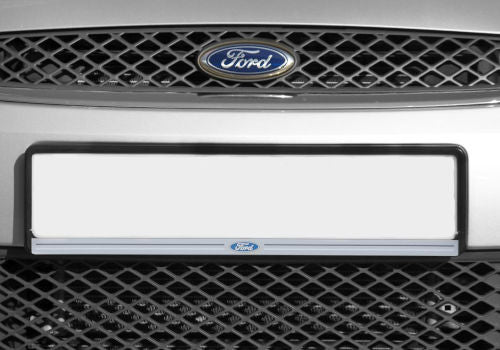 Black Front Number Plate Surround with Ford logo