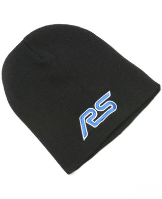 Black Beanie Hat with Ford RS logo