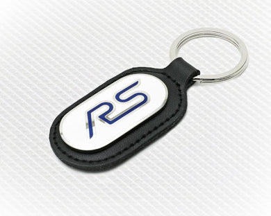 Ford RS Keyring - White with Black Fob