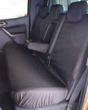 Load image into Gallery viewer, Black Tailored Rear Seat Cover for Ford Ranger Double Cab
