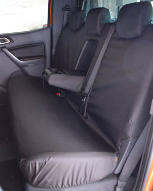 Ford Ranger Double Cab 1999-2006 Mk1 Mk2 Tailored Rear Back Black Seat Cover