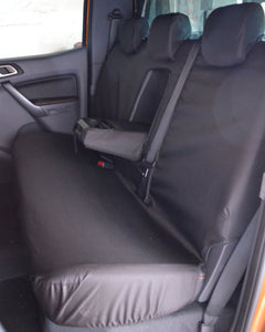 Black Tailored Rear Seat Cover - Ford Ranger Wildtrak