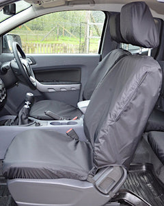 Ford Ranger Wildtrak Tailored Front Seat Covers - Black