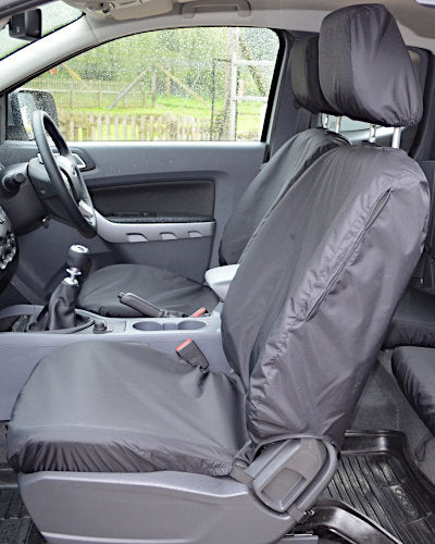 Ford Ranger Wildtrak Tailored Seat Covers - Front Black