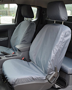 Grey Tailored Front Seat Covers - Ford Ranger T6