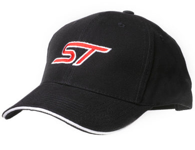 Black Baseball Cap with Ford ST logo