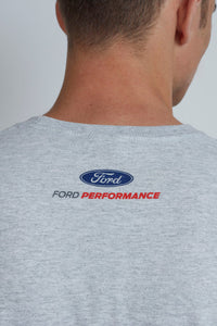 Grey crew neck t-shirt with Ford Performance on the back
