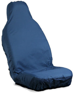 Large Blue Stretchable Waterproof Front Seat Cover