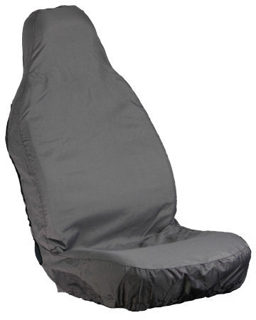 Grey Stretchable Seat Cover