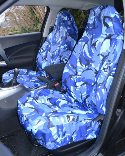 Renault Twingo Camo Front Seat Covers - Blue Tactical