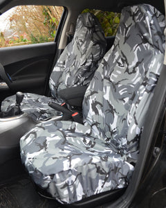 Fiat 500 Camo Seat Covers - Grey