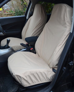 Fiat 500 Beige Seat Covers - Front Seats