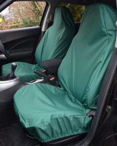 Green Car Seat Covers - Fiat 500 Front Seats