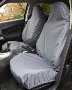 Fiat 500 Grey Seat Covers - Side Airbag Compatible