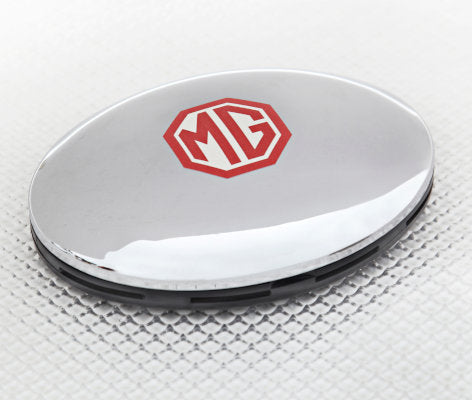 Car Air Freshener in Chrome with MG logo