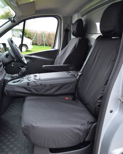 Black Seat Cover Tailored for NV300 Van Folding Seat
