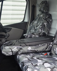 Tailored Camouflage Front Seat Covers For Nissan NV300 Panel Van