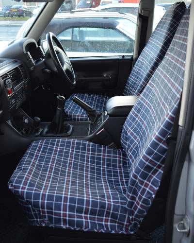 Tartan Seat Covers - Blue