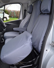 Load image into Gallery viewer, Tailored Grey Seat Covers for Renault Trafic Folding Seat